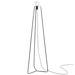 lámpara de pie negro