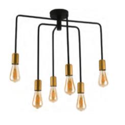 lampara 6 luces