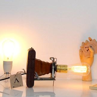 Lampe LAMPDA soufflet marron Gitzo