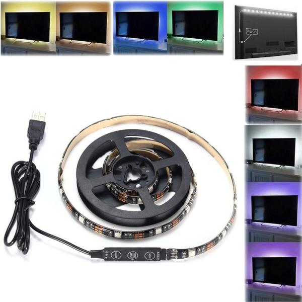 90CM USB RGB SMD5050 27 LED Flexibele Rope Tape Strip Light TV PC Achtergrond Verlichting Lamp DC5V