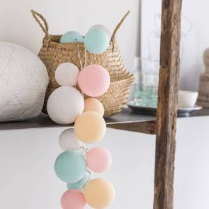 Cotton Ball Lights Premium lichtslinger pastel - Lovely Sweets