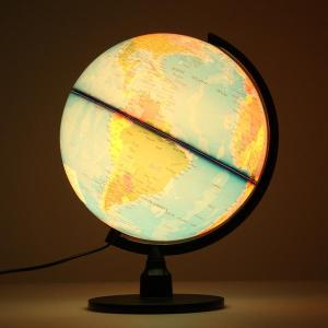 Creatief Verlichte World Earth Globe Roterende Night Light Desktop Decoratie