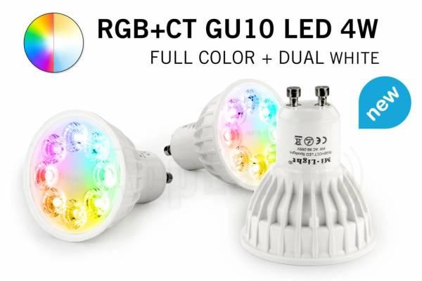 Mi·Light Mi-Light 4W RGBWW Kleur + Dual White Dimbaar GU10 LED Spot 220V
