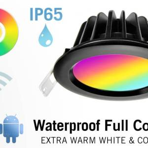 Mi·Light Mi-Light 9W RGBW Kleur + Warm Wit LED Inbouwspot. Spatwaterdicht IP65