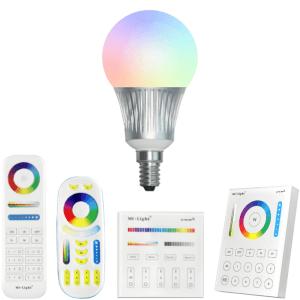 Milight RGBW Wifi led lamp set met afstandsbediening 5W E14