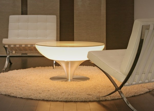 Moree Lounge Table 45 Wit Verlicht