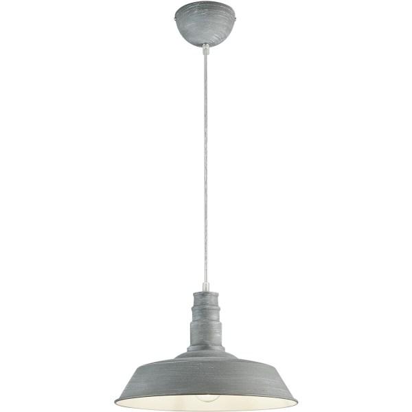 LED Hanglamp - Hangverlichting - Trion Wulo - E27 Fitting - Rond - Beton - Aluminium