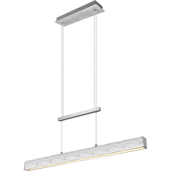 LED Hanglamp - Trion Parola Up and Down - 31W - Warm Wit 3000K - Dimbaar - Rechthoek - Mat Grijs - Aluminium