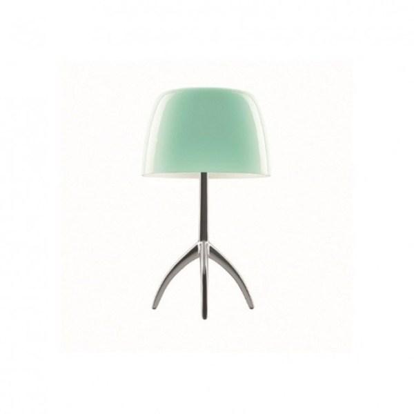 Foscarini - Lumiere piccola tafellamp Turquoise / Aluminium (int)