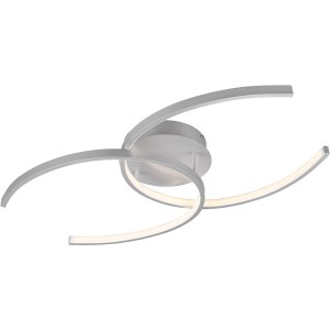 LED Plafondlamp - Plafondverlichting - Trion Cocon - 20W - Warm Wit 3000K - Dimbaar - Rond - Mat Titaan - Aluminium
