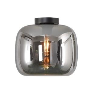 Artdelight Plafondlamp Preston Smoke Glas 28cm