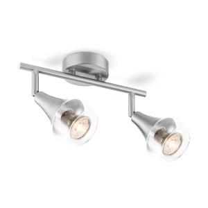 Light depot - LED opbouwspot Vaya 2L - 26 cm - mat staal - Outlet