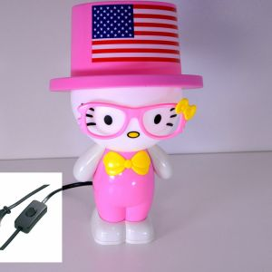 Tischlampe Kinder Kitty Pink