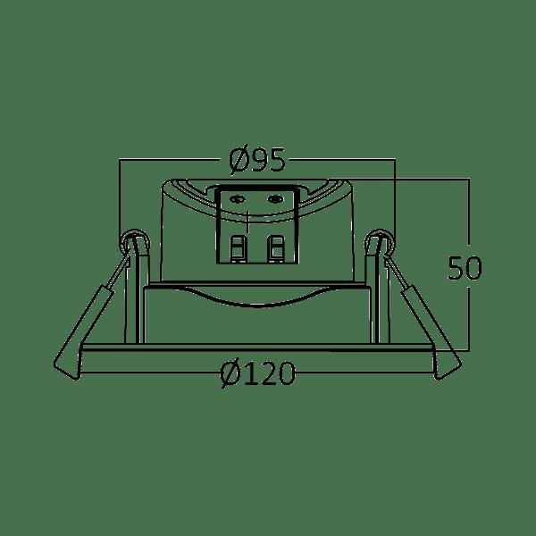 LED Einbauspot 10 Watt G2