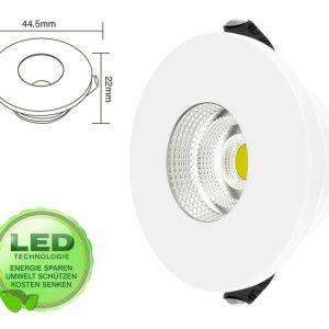 Mini Einbaustrahler - LED 3W IP20 | Besta Sale