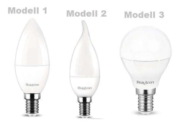 E14 LED Leuchtmittel Glühbirne Kerze Kugel 5 Watt