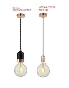 LED E27 Lampenfassung Hängelampe Pendelleuchte 1-flammig