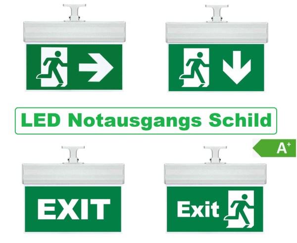 LED Wandleuchte Notausgang/Fluchtweg/Exit
