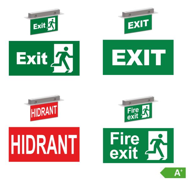 LED-Notbeleuchtung Exit Fluchtweg