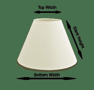 lamp shade sizing