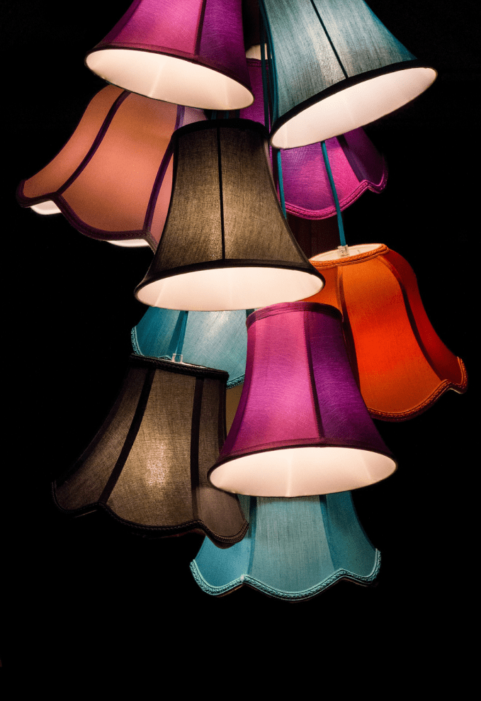 Colourful Lampshades