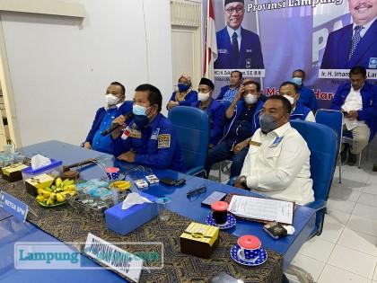 Ketua DPW PAN Lampung Irham Jafar Lan Putra memberi sambutan, Senin (6/9/2021). Foto: Ist