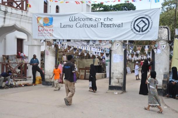 Lamu festival banner wide angle