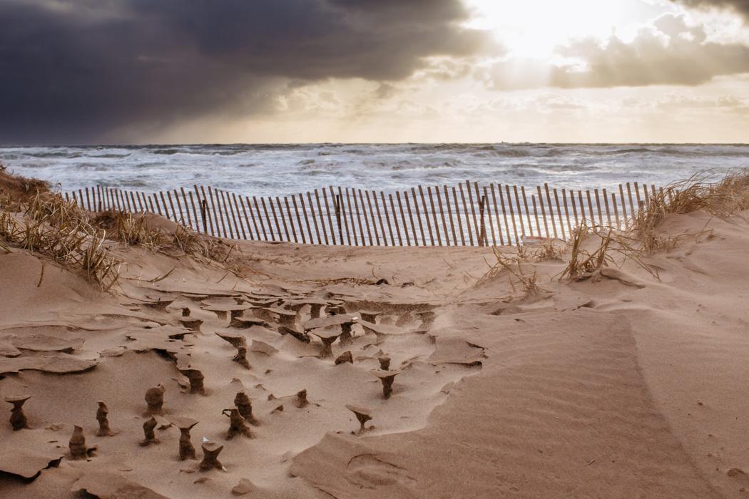 photo de paysage dramatique aux Iles de la Madeleine