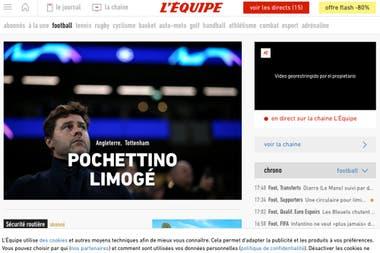 Léquipe también registró el despido de Pochettino