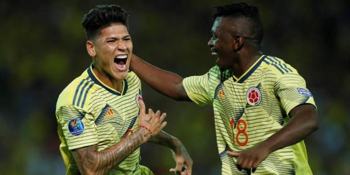 Colombia goleó 4 a 0 a Ecuador y sigue viva en el Preolímpico