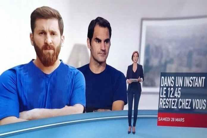 Coronavirus: el blooper de la TV francesa con Messi que se hizo viral en redes y despertó las burlas