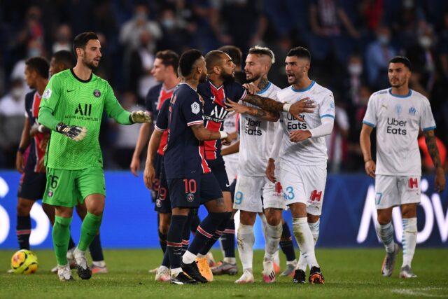 Neymar y otros cuatro expulsados en el partido PSG-Marsella