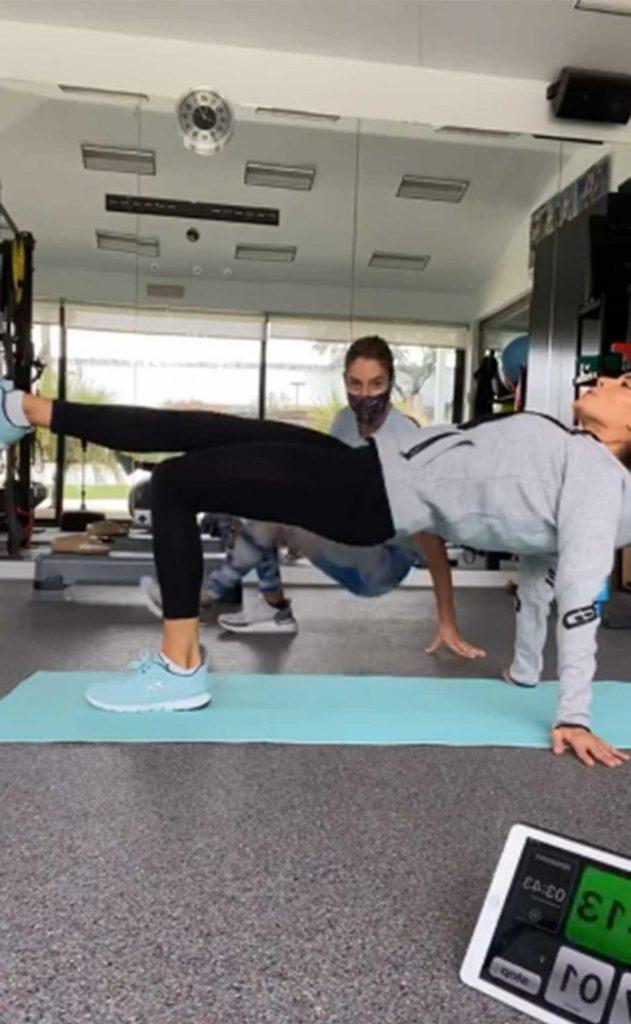Pilar Rubio incluye a su hijo pequeño en sus entrenamientos