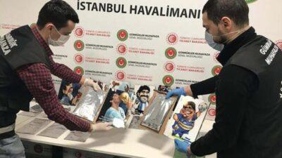 Alemán de 72 años traficaba cocaína de Colombia a Turquía en ilustraciones de Maradona