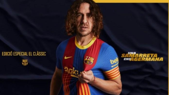 Barcelona presenta una camiseta especial para el próximo Clásico
