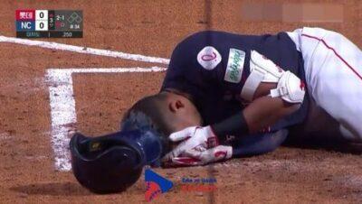 El venezolano Dixon Machado recibió pelotazo en la cabeza a 145 kilómetros por hora
