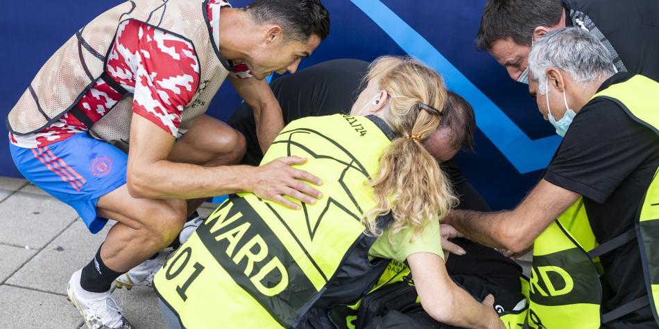 Oficial habló del golpe: 'Vi a Ronaldo encima de mí y dije, ¿me morí?