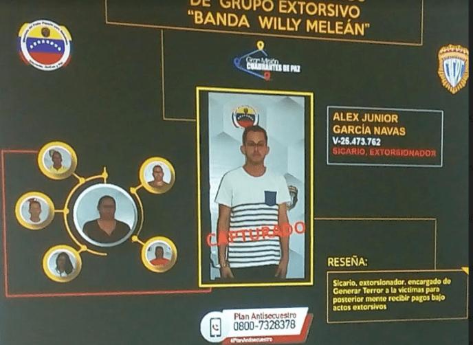 """Delincuentes pertenecen a la banda de """"Bernardino Melén Frontado, alias 'Willy Meleán'"""