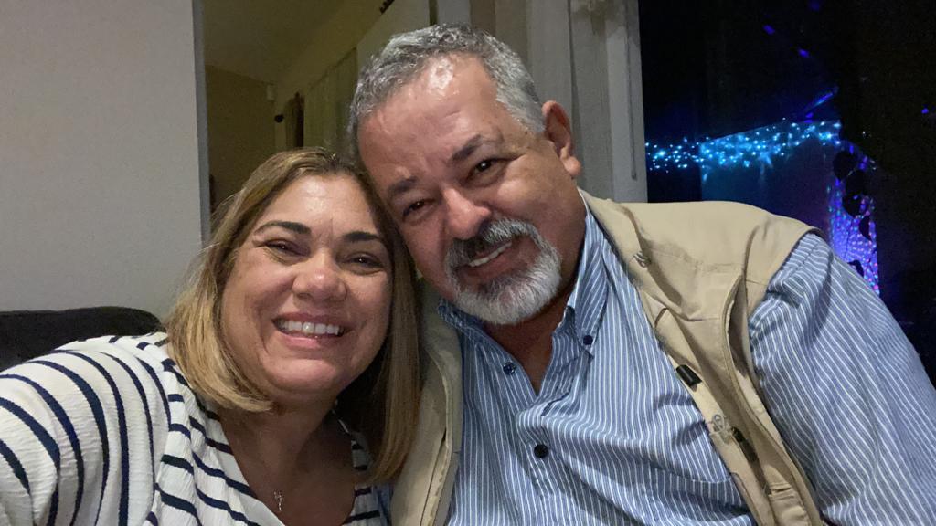 Yumira Pérez y Álvaro Ruiz, antes de Covid-19. Foto cortesía familia Ruiz Pérez