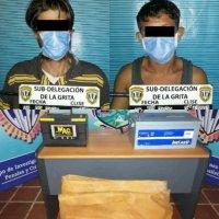 Los capturó el Cicpc en La Grita por hurtar baterías de un depósito