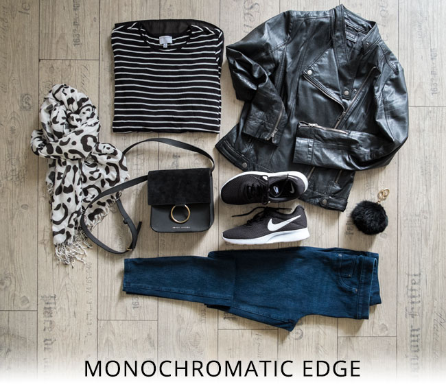 monochromatic edge: get the look