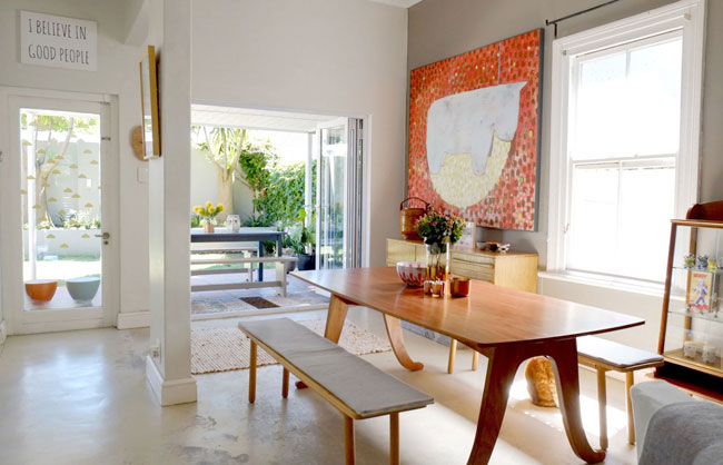 Colouful art filled house tour