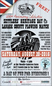 2016 Lanark County Plowing Match Poster
