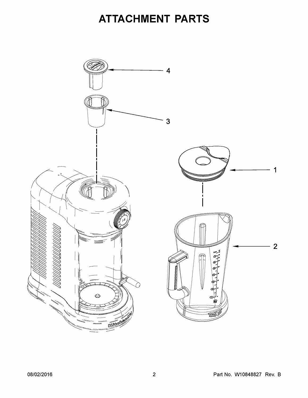 Kitchenaid Magnetic Drive Blender Jar 60oz 1 75l W