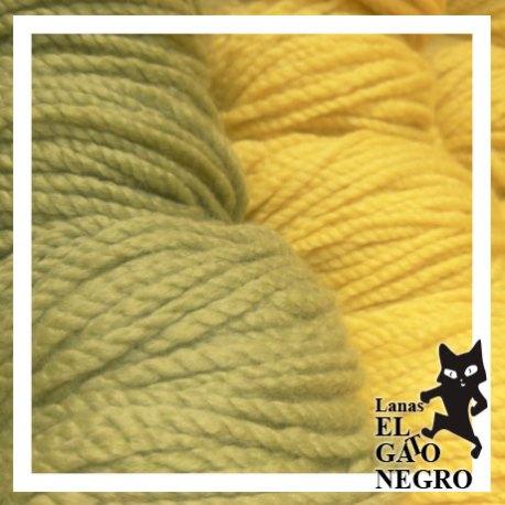 lanas de colores