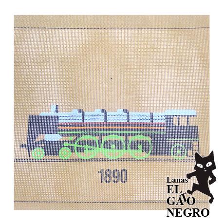 cañamazo tren 1890