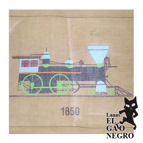 cañamazo tren 1850