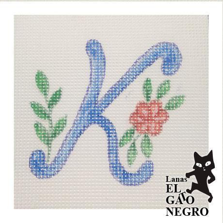cañamazo letra K