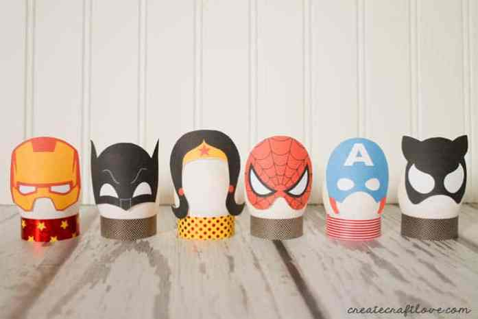 super heroinas huevos