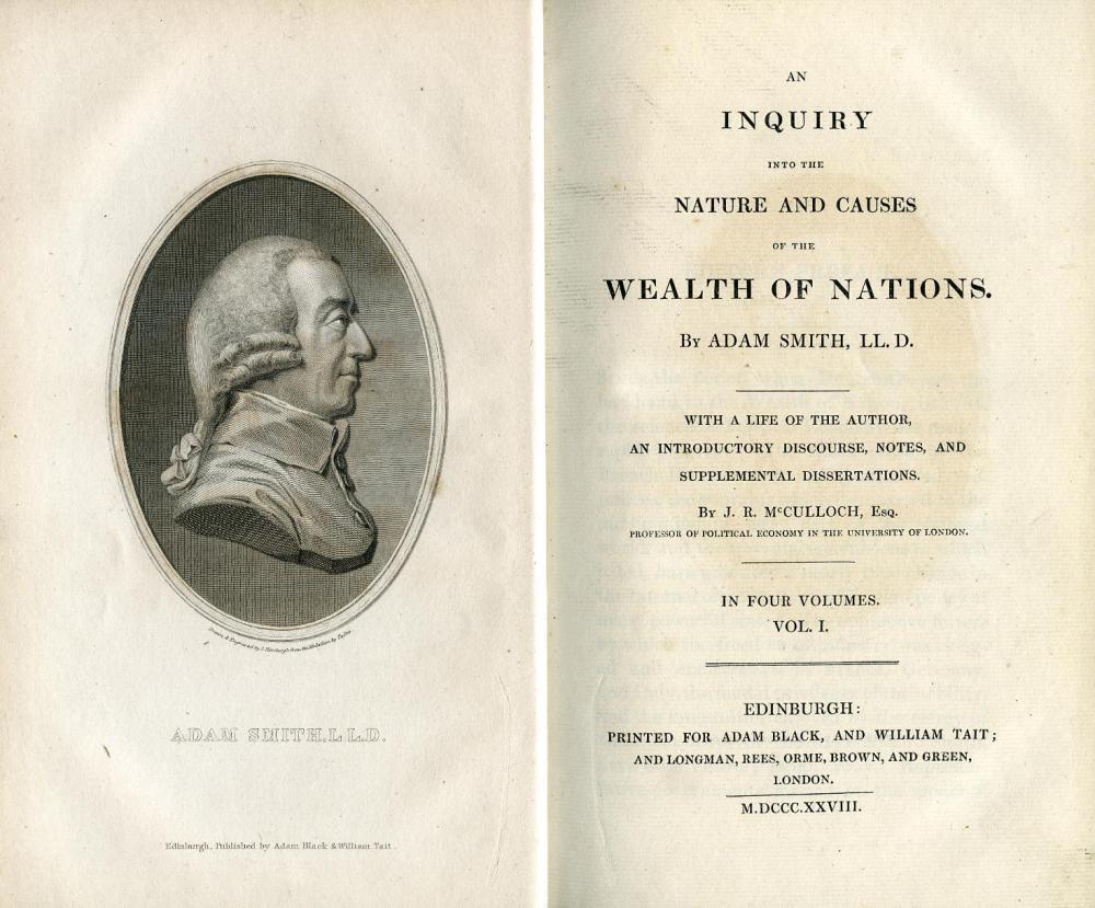ADAM SMITH. EL PADRE DE LA ECONOMIA autor de LA RIQUEZA DE LAS NACIONES